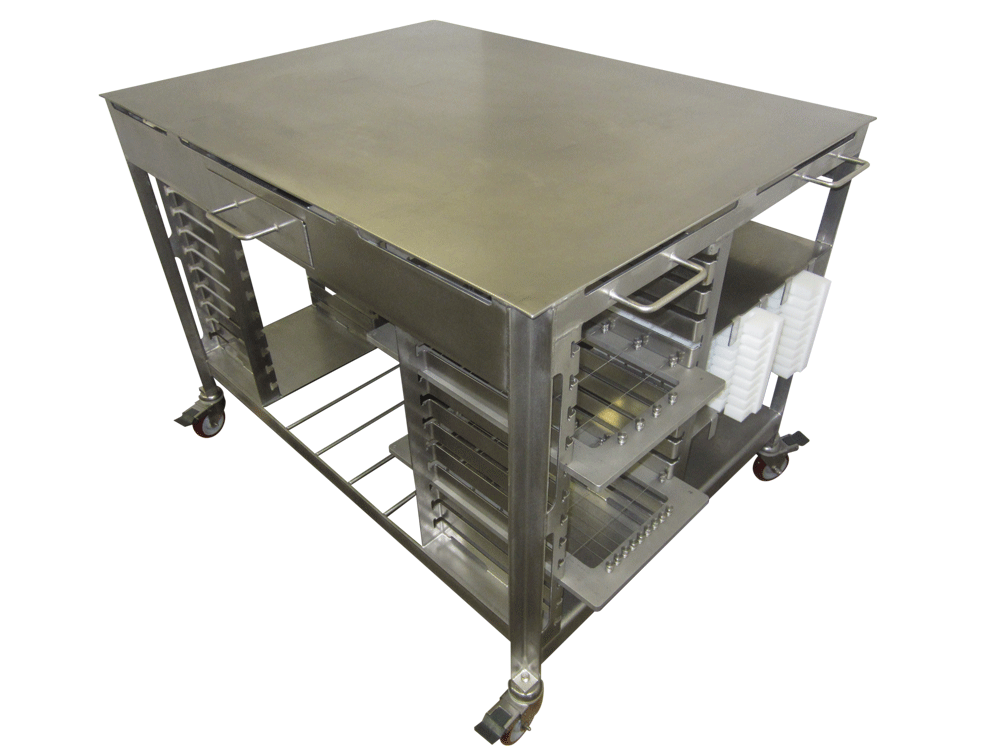 Cheese Harp and platten cart